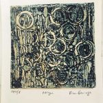 Kim Herringe Mizu Encaustic collagraph