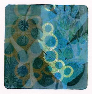 Kim Herringe Morning Glory monoprint