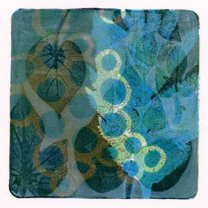 Hand printed Monotype - Morning Glory - Kim Herringe