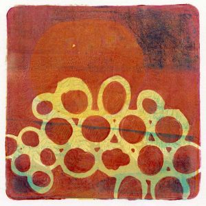 Kim Herringe Red Centre monoprint