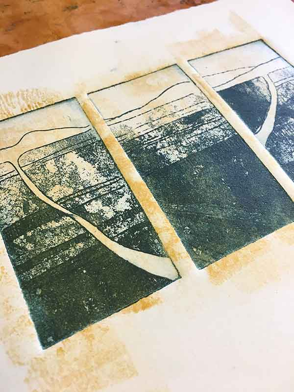 Hinterland - a copper Sulphate aluminium plate etching