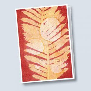 Kim Herringe Sunrise monoprint Greeting Card
