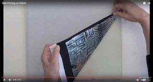 Gelli® plate printing on fabric