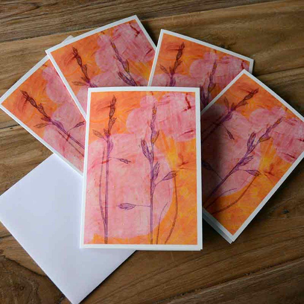 Blank Greeting Card Pack - Afternoon Sun - by Kim Herringe