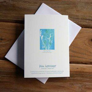 Blank Greeting Card - Morning Dew - by Kim Herringe