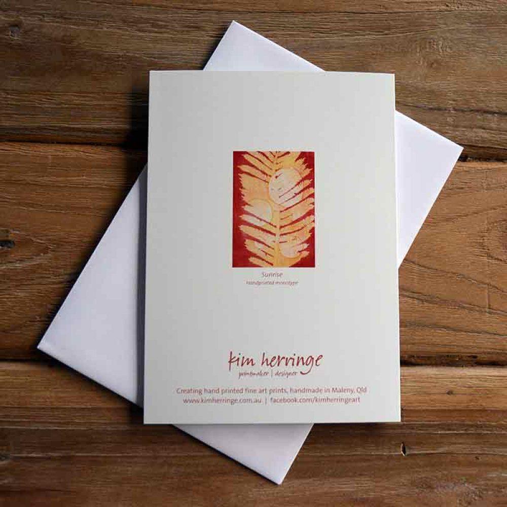 Blank Greeting Card - Sunrise - by Kim Herringe