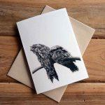 Blank Greeting Card - Watching - by Kim Herringe