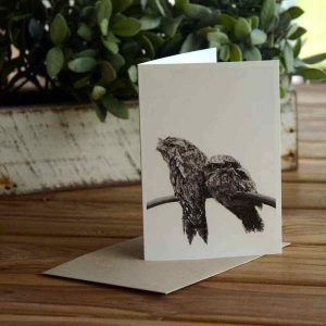 Blank Greeting Card - Watching - by Kim Herringe