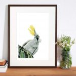 Framed example of Watching giclee reproduction - Ruffled Feathers