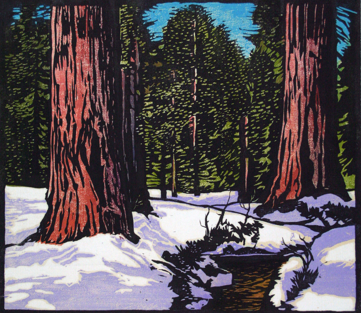 William Rice Big Trees in Snow