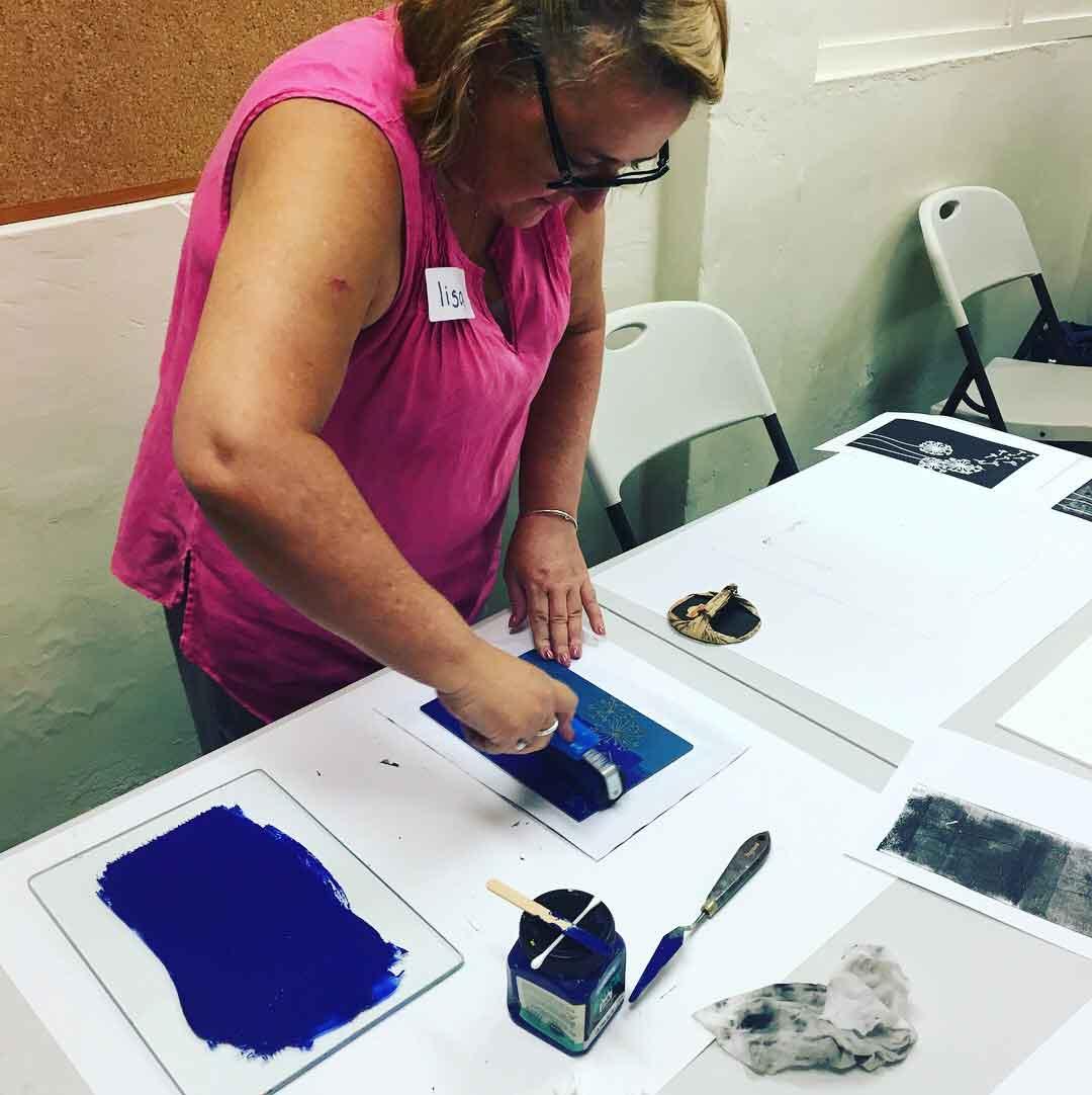 Linoprinting 101 Workshop January 2018