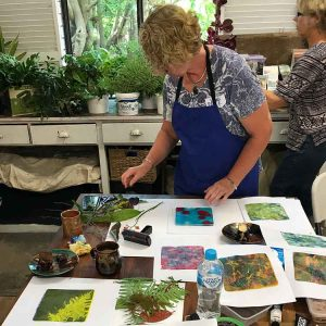 Gelatin Plate Printing and Monotype Workshop February 2018