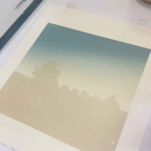 Beerwah Rising - in progress - 3rd colour printed