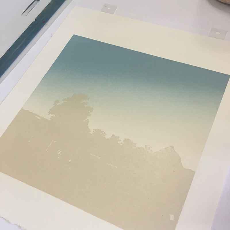 Beerwah Rising - in progress - 3rd colour printed