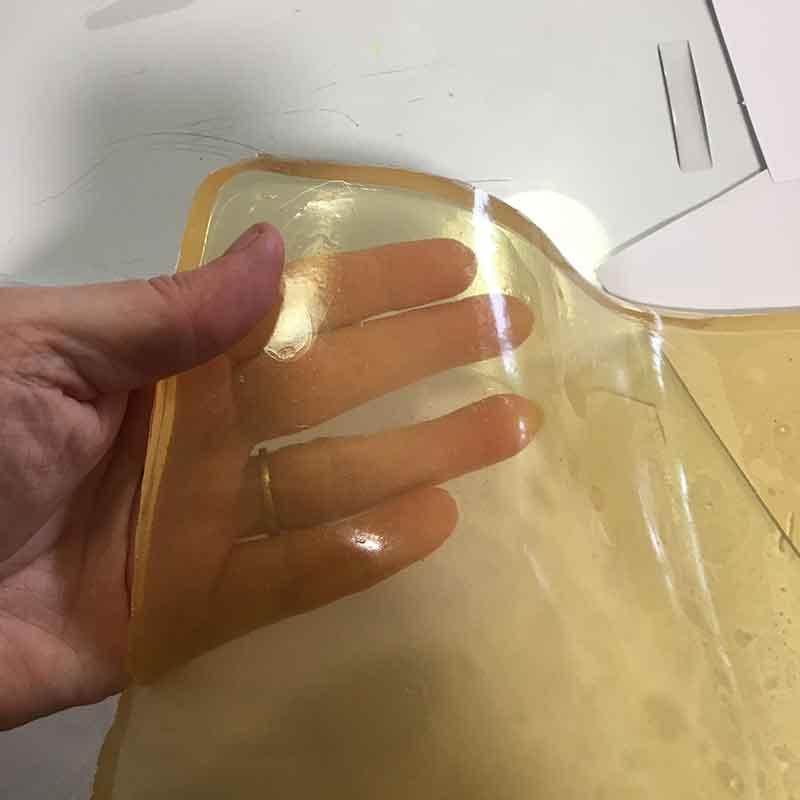 home made gelatin plates
