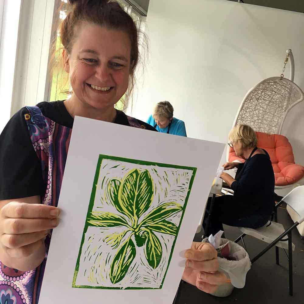 Colour and Reductive Linoprinting workshop - Jan