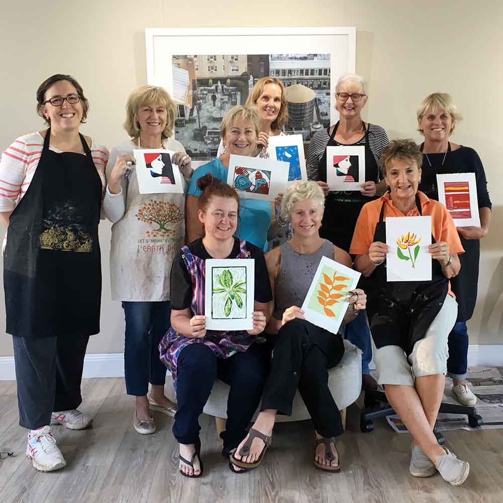 Colour and Reductive Linoprinting workshop