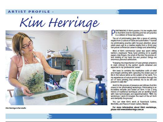Hinterland Times Artist Profile - Kim Herringe
