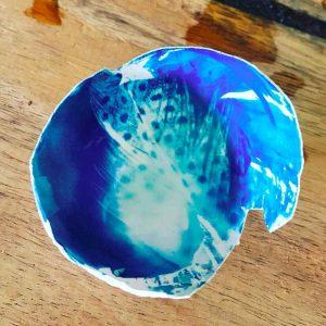 cyanotype on eggshells