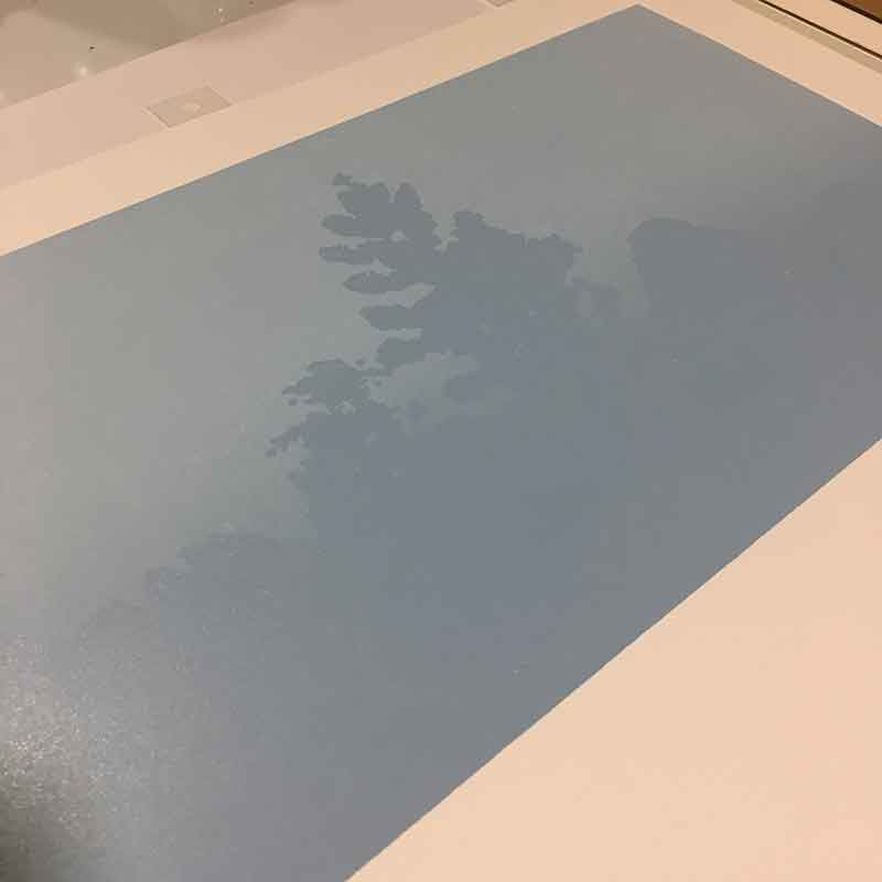 the first misty tree layer is printed