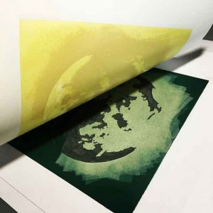 work in progress for After Dark, a new printmaking exhibition