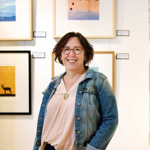 Kim Herringe, artist at Razorback Gallery