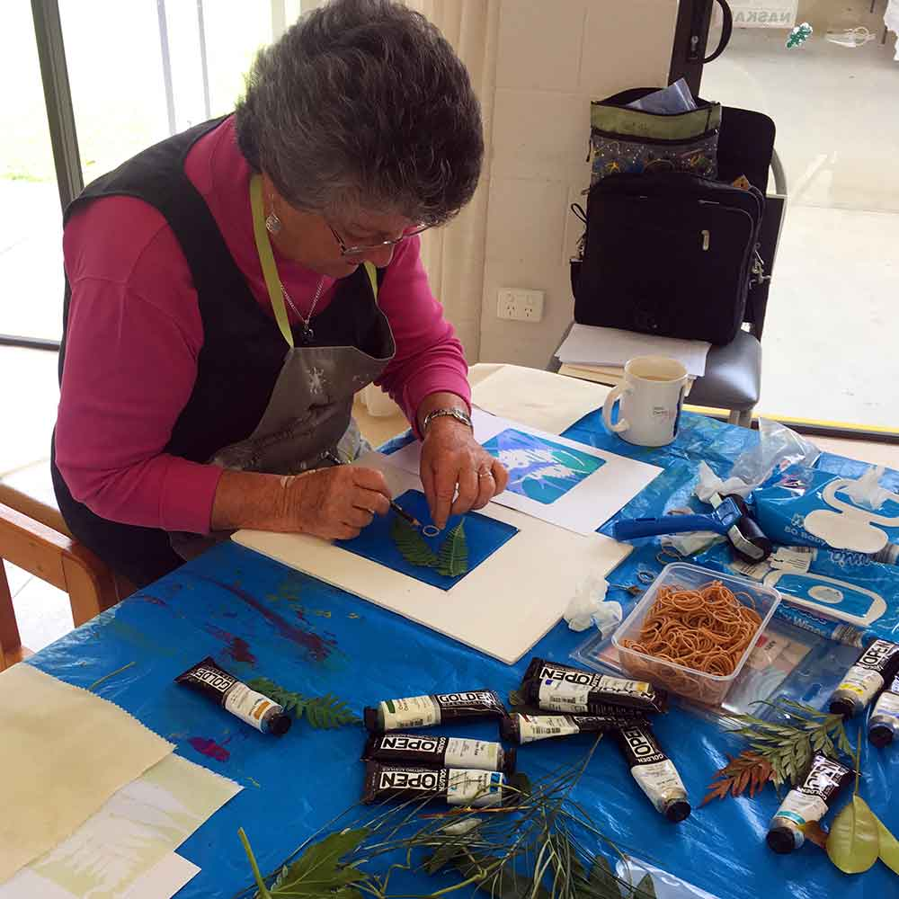 Private Group Printmaking Art Workshops Caloundra Arts Centre