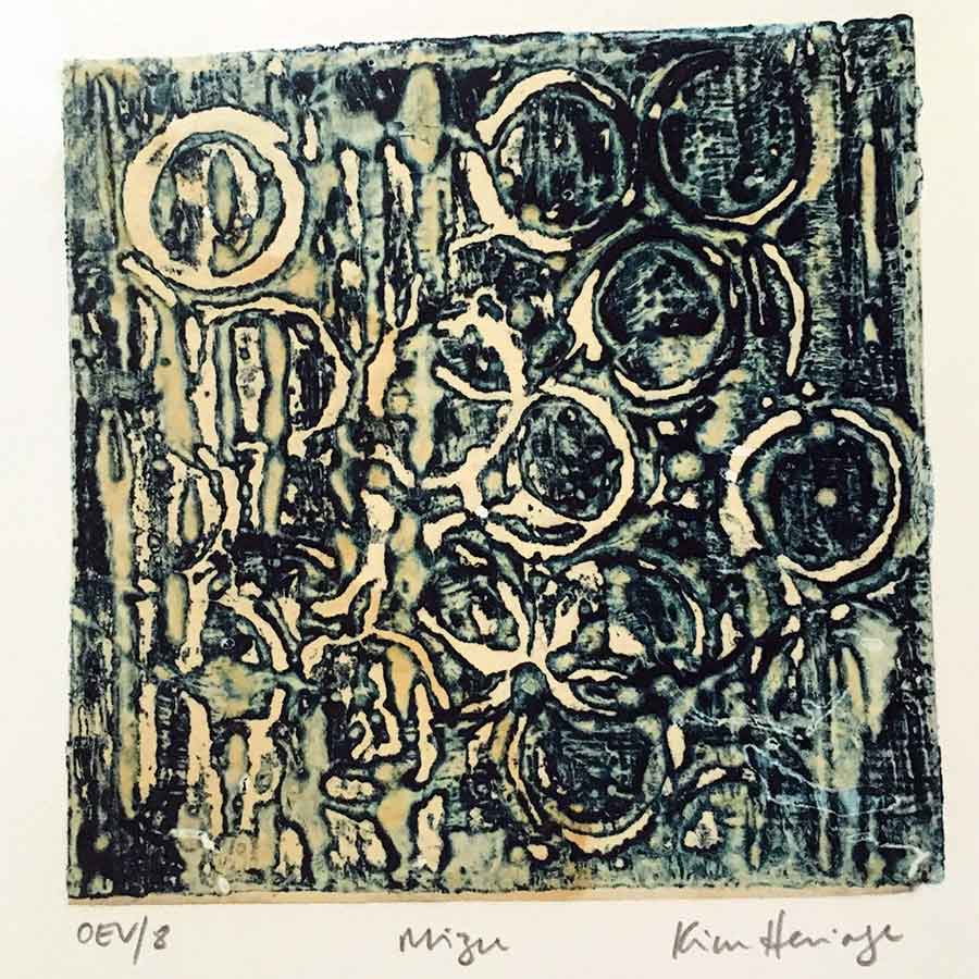 Collectables 2014 - Mizu - encaustic collagraph