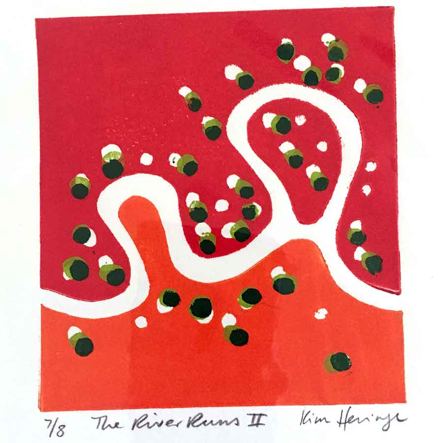 Collectables 2014 - The River Runs III - reduction linocut