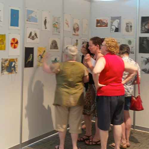 Maleny Printmakers visit Bimblebox exhibition at Mary Cairncross Scenic Reserve