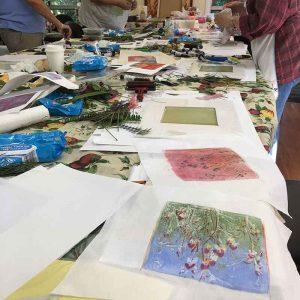 Private Group Printmaking Art Workshops Buderim Craft Cottage MMM Group