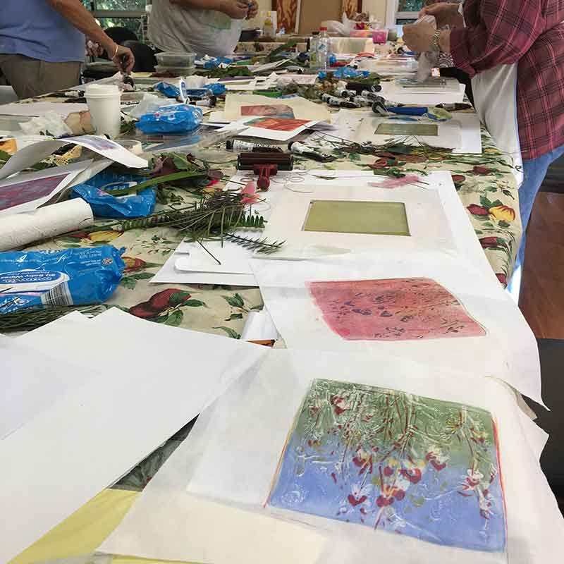 Private Group Printmaking Art Workshops Buderim Craft Cottage MMM Group