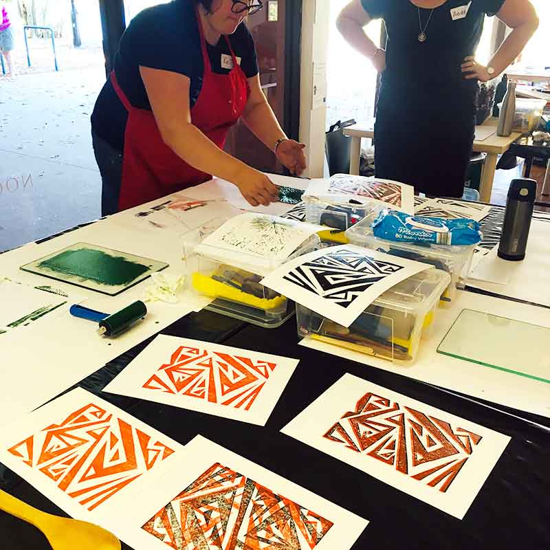 Noosa Regional Gallery - Linoprinting 101 Workshop