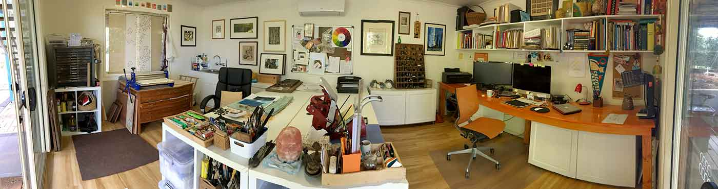 My studio August 2018
