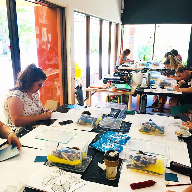 Private Group Lino Print Workshops - Noosa Regional Gallery