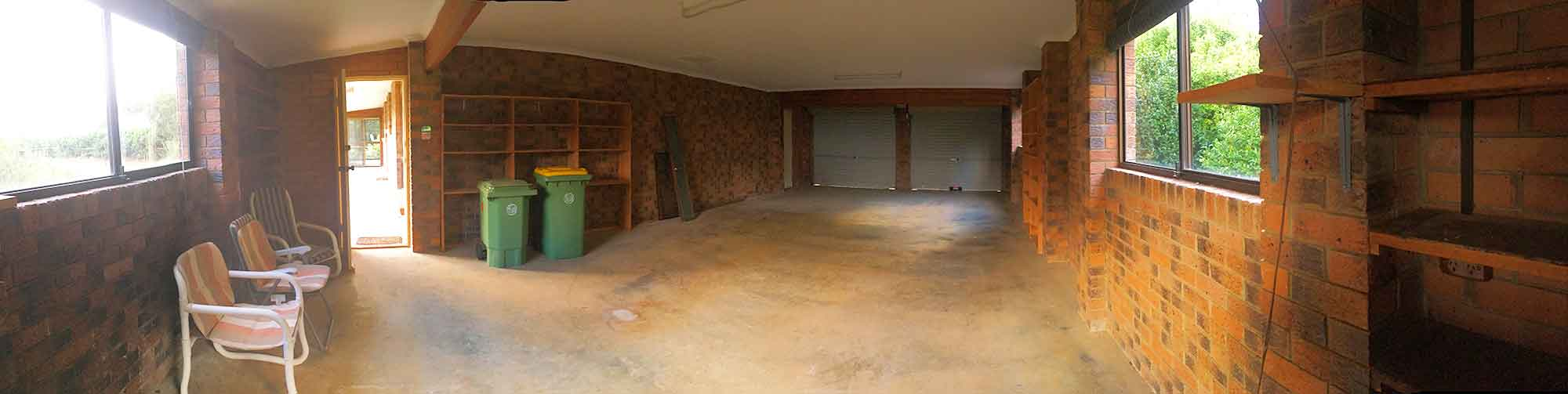 My new studio - an expansive 4 car garage space