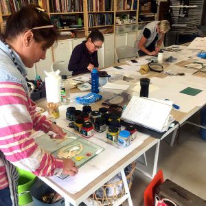 Colour and Reductive Linoprinting workshop May 2019