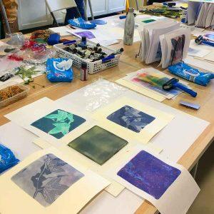 Gelatin Plate Printing and Monotype Workshop June 2019