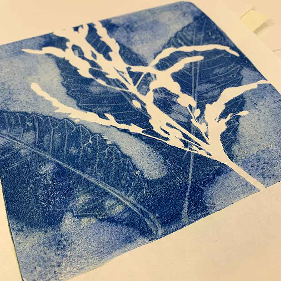 Gelatin Plate Printing and Monotype Workshop June 2019