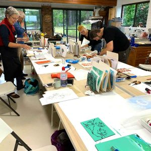 Linoprinting 101 workshop June 2019