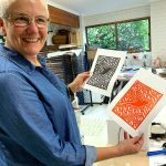Lucille, Linoprinting 101 workshop June 2019
