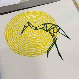 Toni, Linoprinting 101 workshop June 2019