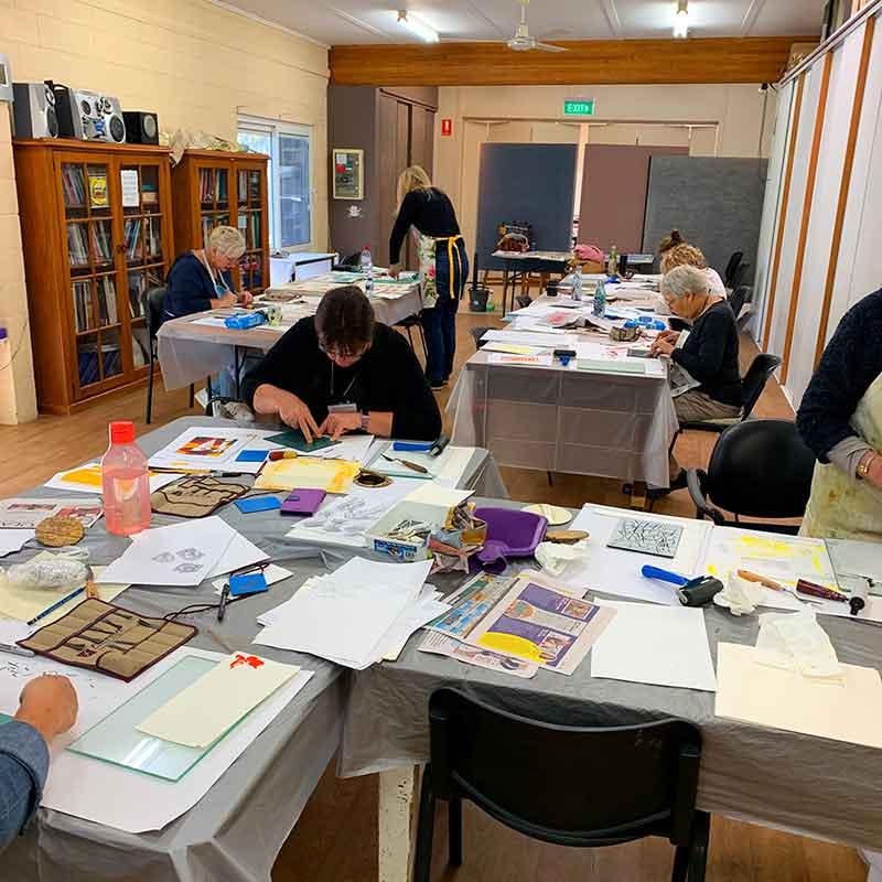 Reduction Linocut Buderim Winter School 2019