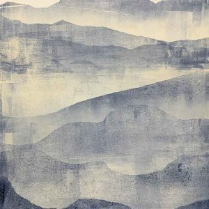 Grounded in Grey - Gelatin Plate monotype print