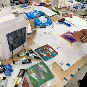 Gelatin Plate Printing and Monotype Workshop Sept 2019