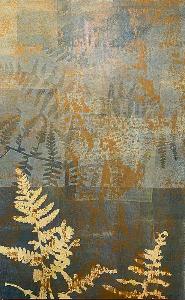 Botanical 2 - Gelatin Plate monotype print