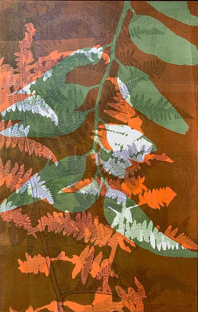 Botanical 3 - Gelatin Plate monotype print