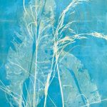 Nature Strip I - Gelatin Plate monotype print