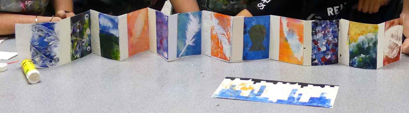 All Hallows School Yr11 Gel Print workshop