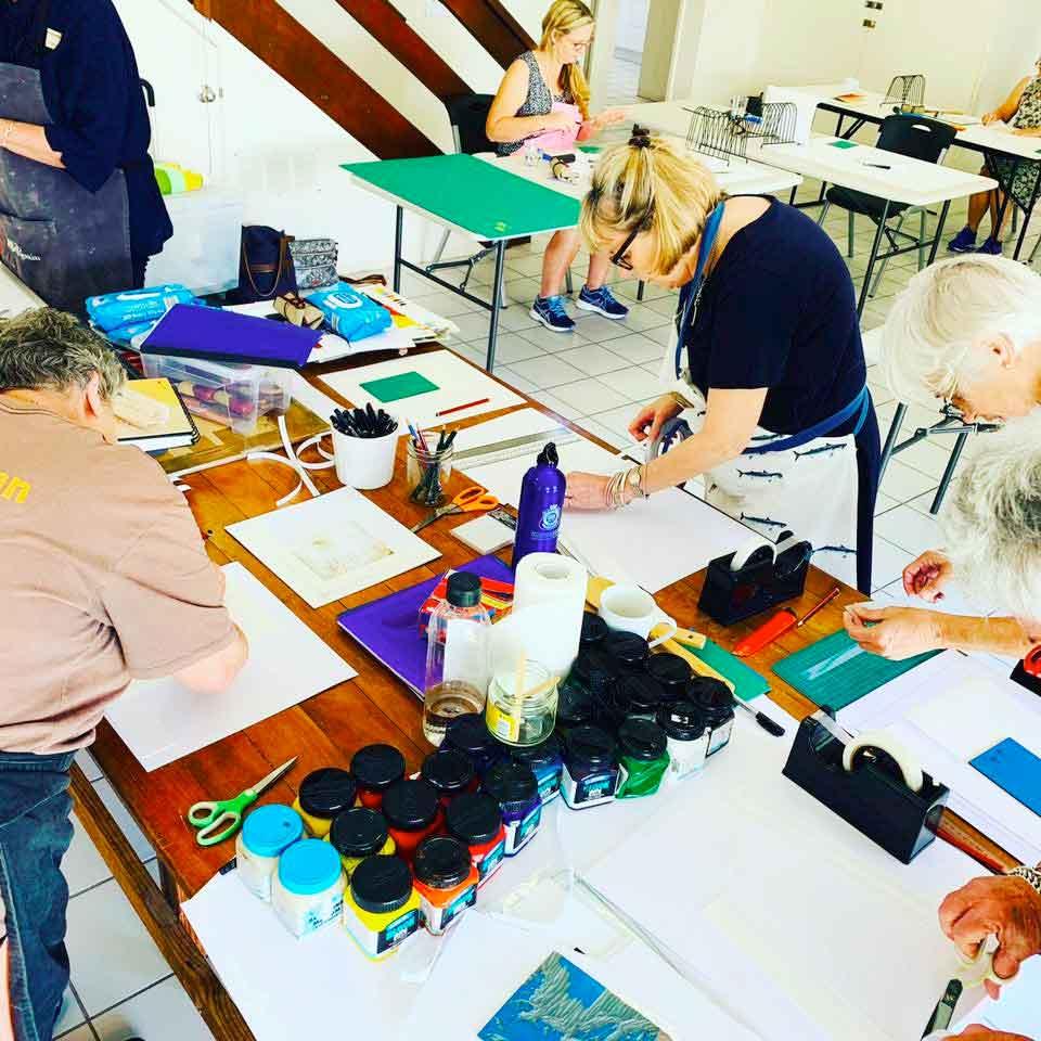 Private Group Colour Linoprinitng - Caloundra Arts Centre Association